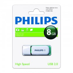 usb Pendrive 8GB Philips Snow Verde