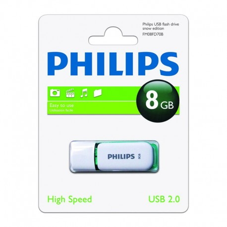 Pendrive 8GB Philips Snow Verde 3.95€