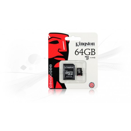 Memoria Kingston microSD 64GB Class 10