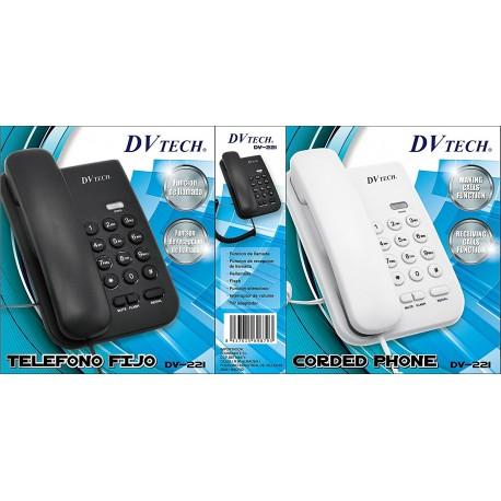 TELÉFONO FIJO SOBREMESA DV-TECH . MOD. DV-221