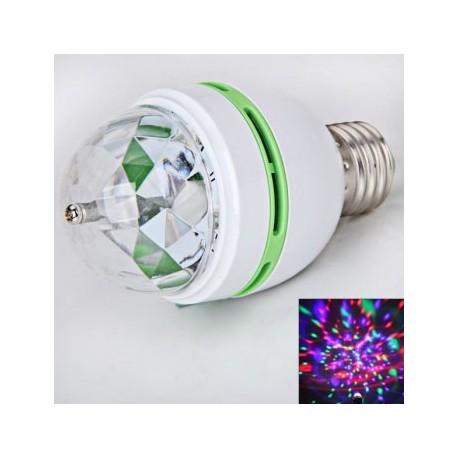 Nueva tecnología E27 3W RGB LED giratoria de la lámpara / luz de