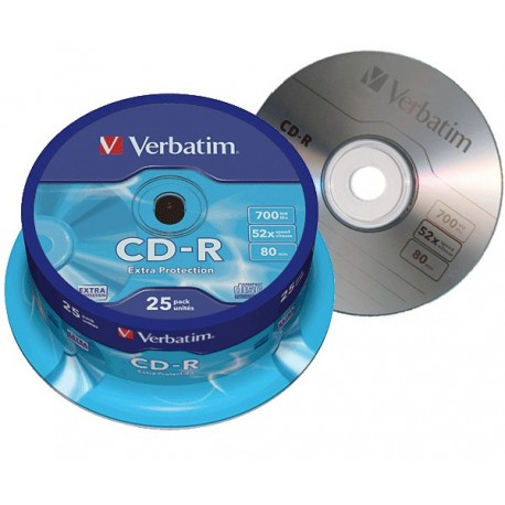 Tarrina 25 cd verbatim