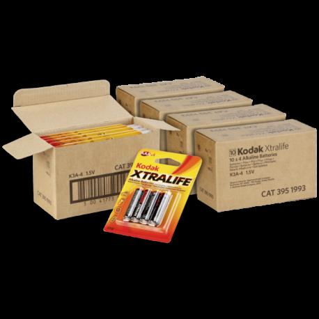 Kodak LR03-K3A Pack 4 Pilas Alkalinas AAA LR03 -