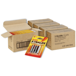 Kodak Xtralife Alkaline Battery AA, 4 Pack