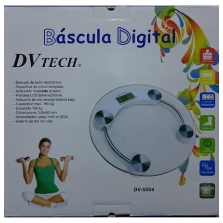 BASCULA DE BAÑO DIGITAL DVTECH dv-5004