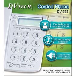 DV-333. Teléfono Manos Libres con teclado grande. DVTECH