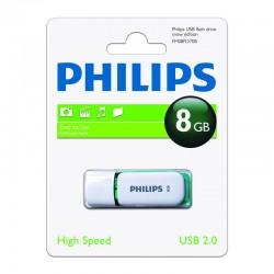 Pendrive 8GB Philips Snow Verde 3.95€