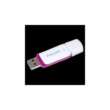 Pendrive de 64GB - Philips SNOW 3.0, Unidad flash USB, Lila y Blanco, Con tapa