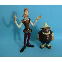 lote figuras pvc Don Quijote de la Mancha y Sancho Eura Spain del 79 con espada