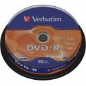 Bobina de 10 DVD-R, Verbatim, 120 minutos, 4.7GB y 16x