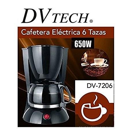 Cafetera electrica 6 tazas DVTech DV-7206