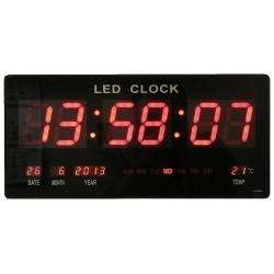 Reloj de pared digital LED Cuarzo Fecha temperatura Bar Cafetería Kiosko XL