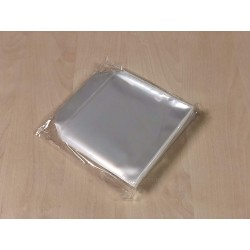 Pack 100 - Sobre Plastico MediaRange para CD DVD BD individuais 100% Transparente