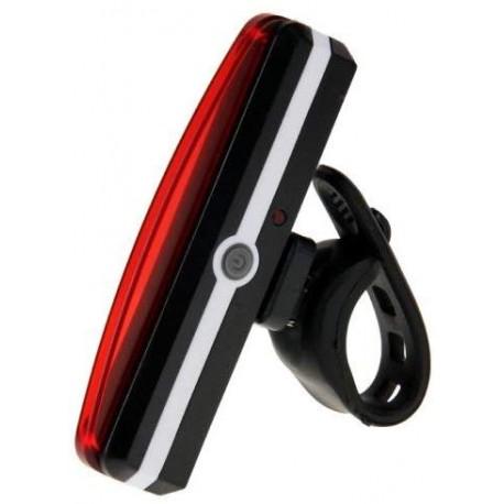 RAYPAL RPL-2266 USB Batería COB LED bicicleta luz trasera con soporte de manillar, Bicicleta Accesorios, piloto trasero