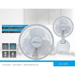 """Dvtech Ventilador Pinza y Mesa 6"""" 15cm 2 in1 15w 220v DV-405"""