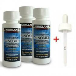 Minoxil Kirkland 5% 3X60 ML -TRATAMIENTO PARA 3 meses