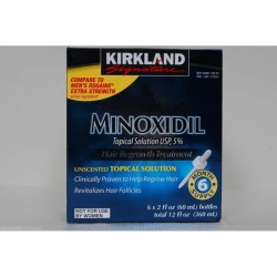MINOXIDIL Kirkland 5% 6X60 ML -tratamiento 6 meses