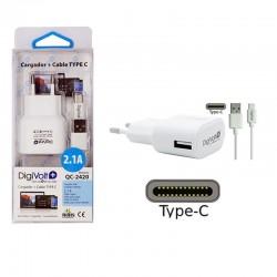 Digivolt Cargador Type-C a Usb 2100 mA QC-2420