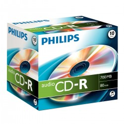 PHILIPS Pack 10 CD-R Audio Philips 700 MB