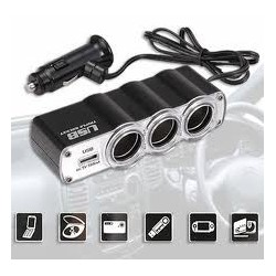 WF-0120 Multifuncional USB Triple DC 12V / 24V del cargador del