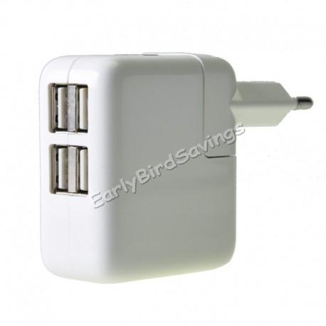 4 puertos Cargador USB Pantalla LED