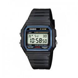 Reloj digital Casio original f91w retro unisex Negro