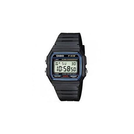 Digital Retro Negro Reloj Casio F91w Original Unisex 35LqA4Rj