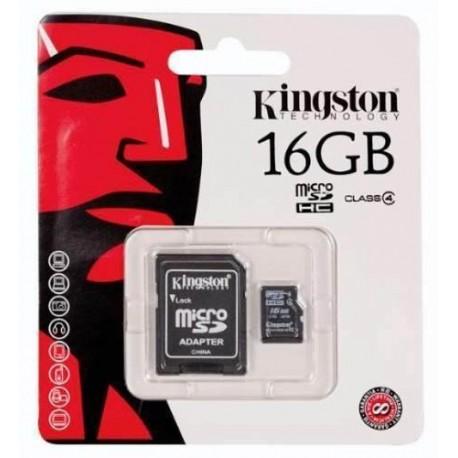 Kingston - Tarjeta de memoria microSDHC 16 GB