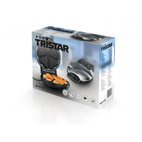 Tristar WF-2118 - Gofrera de acero inoxidable (1200 vatios)